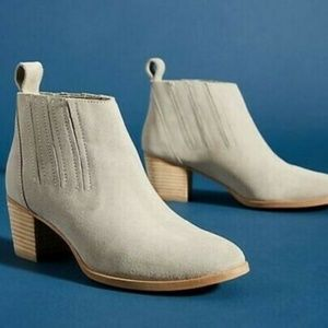 NWT Anthropologie Lena Suede Ankle Boots Grey 39